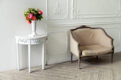 Aristocratic apartment interior in classic style Stock Image