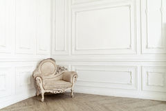 Aristocratic chair in classic interior Stock Photo