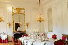 Aristocratic Dining Room in stately home. Aristocratic Dining Room in large stately home Stock Image