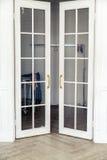 Aristocratic door  in apartment in classic style Stock Photos