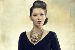 Aristocratic fashion girl Royalty Free Stock Images