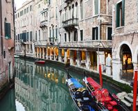 Aristocratic gondolas by night, Venice Stock Image