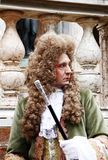 Aristocratic man for carnival of venice. Historic building on the background. Venice, Italy Stock Photography