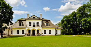 Aristocratic manor house panoramic view Royalty Free Stock Images