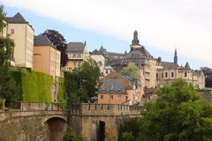 Aristocratic residence in Luxembourg Royalty Free Stock Images