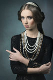 Aristocratic vintage dame Royalty Free Stock Photo