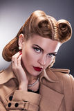 Aristocratic Woman with Retro Hairstyle. Nostalgy - Aristocratic Woman with Retro Hairstyle Stock Images