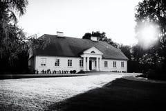 Aristokratiskt herrgårdhus i Polen Fotografering för Bildbyråer