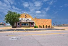 Ariston Cafe in Litchfield, Illinois Lizenzfreie Stockfotografie