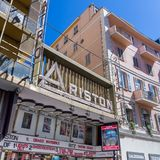 Ariston teatr w Sanremo WŁOCHY obraz stock