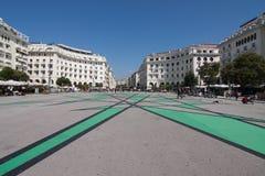 Aristoteles ställe i Thessaloniki, Grekland fotografering för bildbyråer
