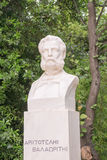 Aristotelis Valaoritis statua w Sintagma Ateny Obrazy Stock