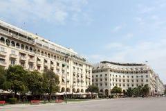 Aristotelous广场和塞萨罗尼基希腊 免版税库存照片