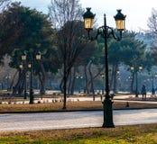 Aristotelous广场在塞萨罗尼基市的中心在希腊 公园在人,贸易商附近会集,并且动物特别是 免版税库存照片