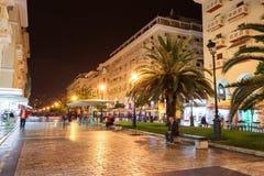 Aristotelous fyrkant i Thessaloniki arkivfoton