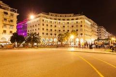 Aristotelous fyrkant i Thessaloniki fotografering för bildbyråer