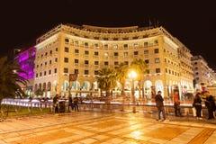 Aristotelous fyrkant i Thessaloniki royaltyfri fotografi