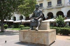Aristotelous monument in Thessaloniki, Greece stock image