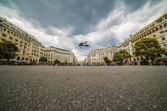 Aristotelous Square Thessaloniki on a cloudy day Royalty Free Stock Photography