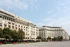 Aristotelous square and Thessaloniki Greece Royalty Free Stock Photo