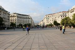 Aristotelous Square, Thessaloniki, Greece Royalty Free Stock Photo