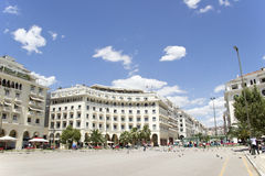 Aristotelous Square in Thessaloniki Royalty Free Stock Photography