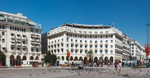 Aristotelousvierkant in Thessaloniki, Griekenland royalty-vrije stock afbeelding