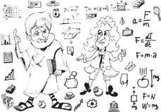 Aristotl και Newton διανυσματική απεικόνιση