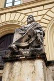 Aristotle Grecka filozof statua Ludwig Von Schwanthal Zdjęcie Stock