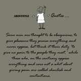 Aristotle Quotes. Some men are thought to be... Stock Photography