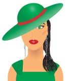 Aristrocratische vrouw royalty-vrije illustratie
