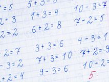 Arithmetic background Royalty Free Stock Photography