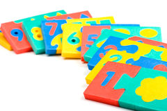Arithmetic game close up Royalty Free Stock Photos