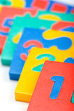 Arithmetic game macro Royalty Free Stock Photo