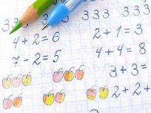 Arithmetic lesson Royalty Free Stock Image