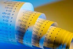 Arithmetic strip of calculator Stock Photo