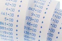 Arithmetic strip of calculator Royalty Free Stock Photos