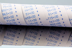 Arithmetic strip of calculator Royalty Free Stock Image