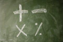 arithmetic symboler Royaltyfri Bild