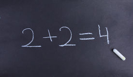Arithmetic written with chalk Royalty Free Stock Image