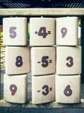 Arithmetical problem Stock Images