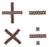 Arithmetische Operationen der Schokolade Lizenzfreie Stockbilder
