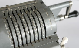 Arithmometer сбора винограда механически Стоковое фото RF