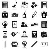 Arithmometer icons set, simple style Stock Photography