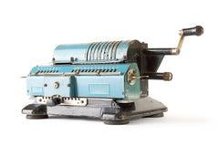 Arithmometer sopra bianco Fotografia Stock