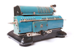 Arithmometer su fondo bianco Fotografie Stock