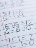 Aritmética de la escuela primaria imagen de archivo libre de regalías