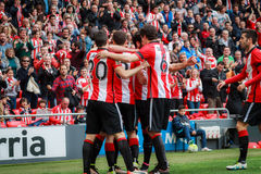 Aritz Aduriz and Mikel San Jose Royalty Free Stock Photo