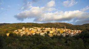 ARITZO: Vista geral do país - Sardinia Imagem de Stock Royalty Free