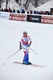 arivier完成marchand marie滑雪者 图库摄影